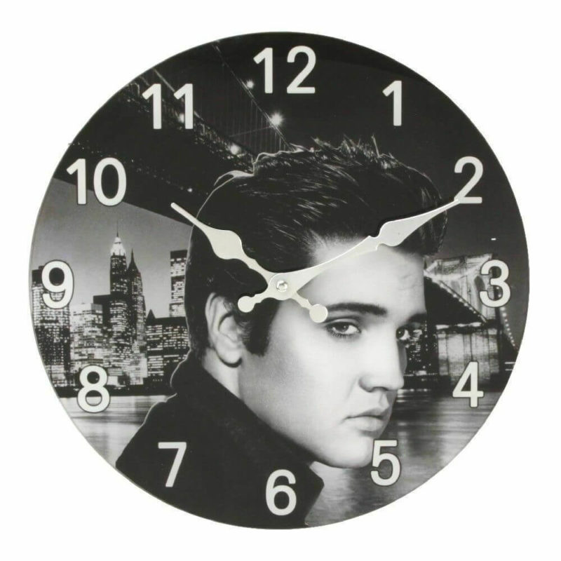 Hometime Wall Clock Icon Elvis Presley The King Design