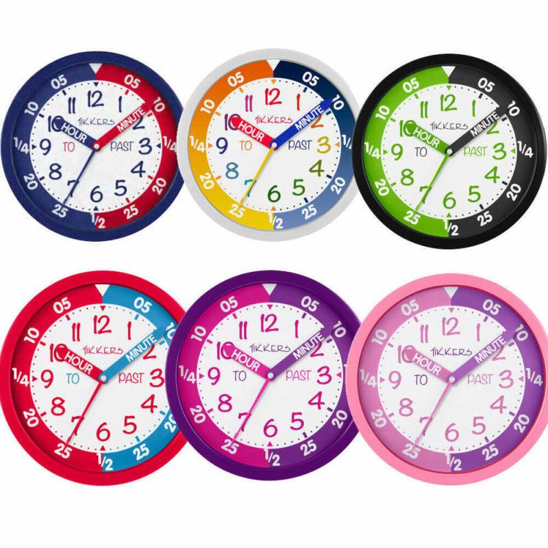 TIKKERS-CHILDREN'S-TIME-TEACHER-WALL-CLOCK
