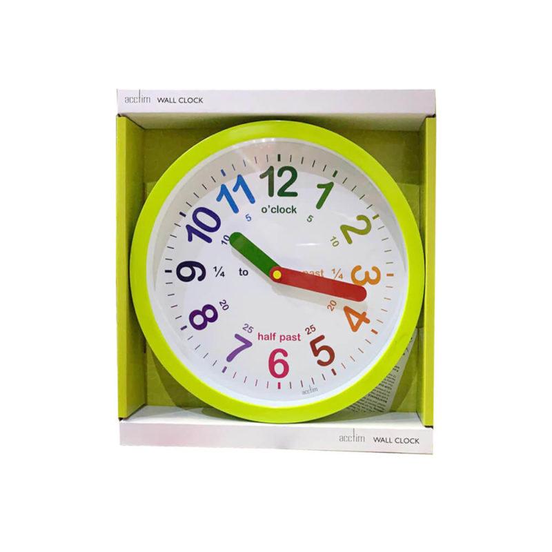 green-color-wall-clock