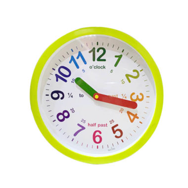 green-wall-clock-uk