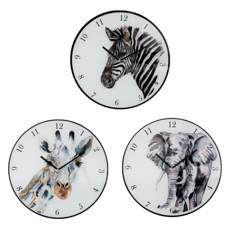 wall-clock-animals