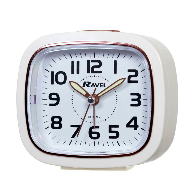 white-clock-color