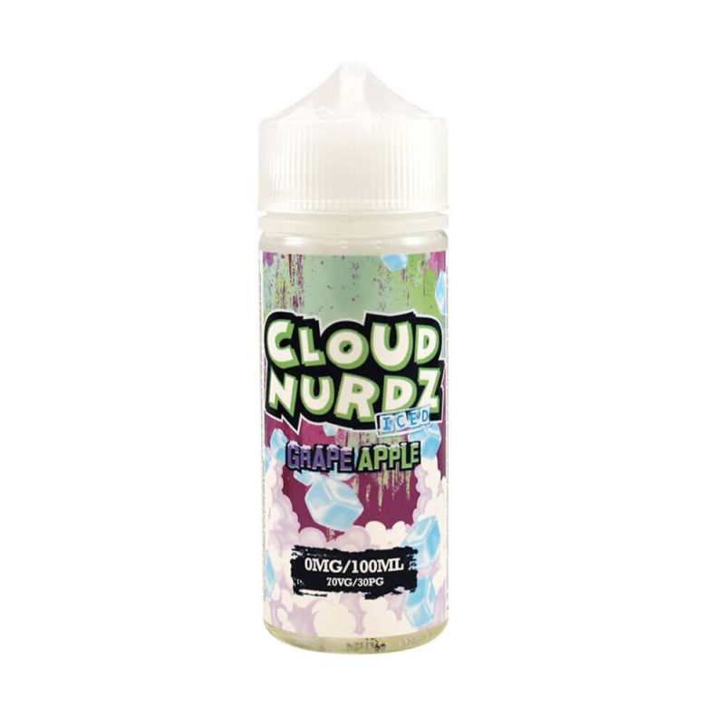 Grape Apple Iced Shortfill 100ml Eliquid by Cloud Nurdz