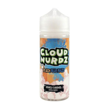 Peach Blue Razz Shortfill 100ml Eliquid by Cloud Nurdz