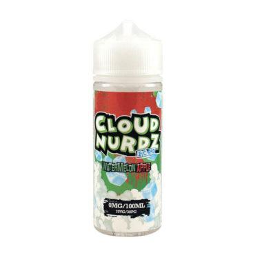Watermelon Apple Iced Shortfill 100ml Eliquid by Cloud Nurdz