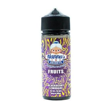Fruits Blackberry Lemonade Shortfill 100ml Eliquid by Nanna's Secret