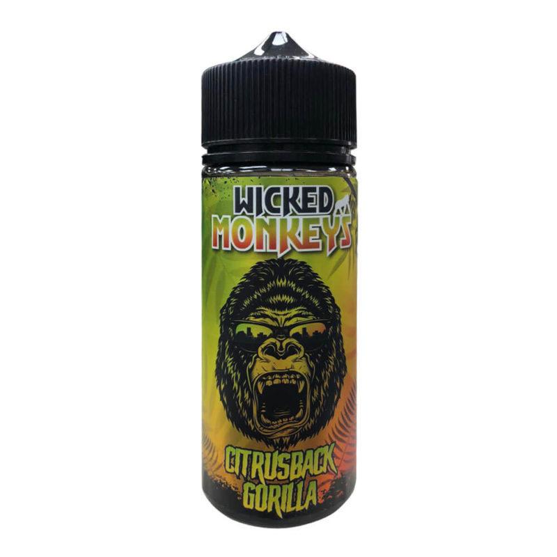 Citrusback GorillaShortfill 100ml Eliquid by Wicked Monkeys
