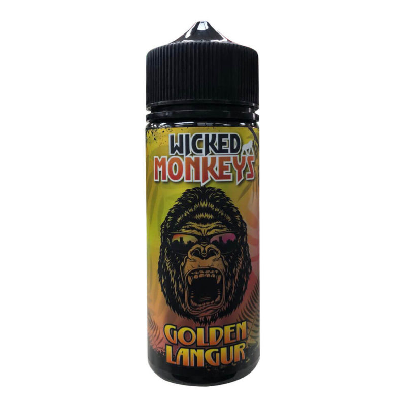 Golden Langur Shortfill 100ml Eliquid by Wicked Monkeys