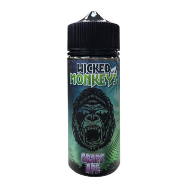 Grape Ape Shortfill 100ml Eliquid by Wicked Monkeys
