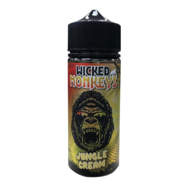 Jungle Cream Shortfill 100ml Eliquid by Wicked Monkeys