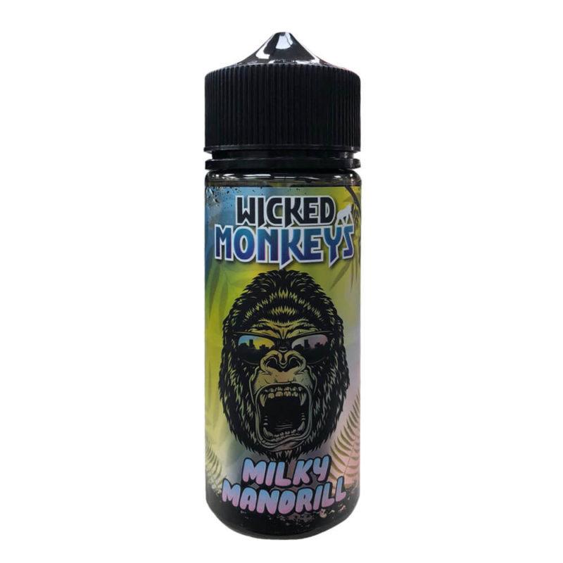Milky Mandrill Shortfill 100ml Eliquid by Wicked Monkeys