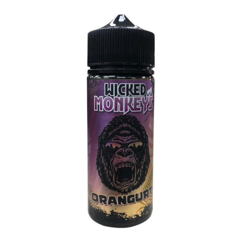 Orangurt Shortfill 100ml Eliquid by Wicked Monkeys