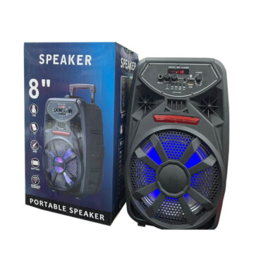 Brand New 8 inch portable Speaker USB TF AUX